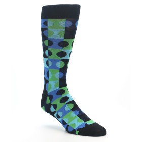 22403-Black-Blue-Green-Dots-Mens-Dress-Socks-K-Bell-Socks01