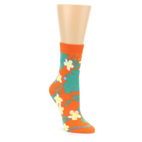 22827-Orange-Green-Tropical-Womens-Casual-Sock-STANCE01