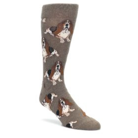 Light-Brown-Hound-Dog-Mens-Dress-Socks-Socksmith