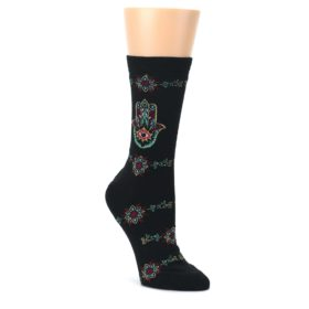 Black-Multi-Hamsa-Hand-Womens-Dress-Socks-K-Bell-Socks