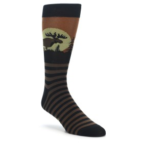 Brown Moose or Elk Socks for Men