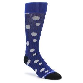 Blue Herringbone Patterned Socks