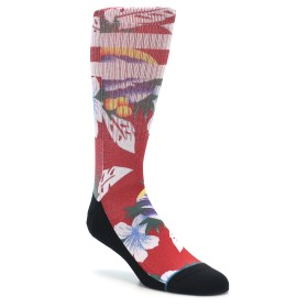 STANCE Newport Red Floral Socks for Men