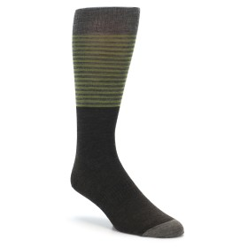 Smartwool Tailored Stripe Crew Socks Chestnut Brown