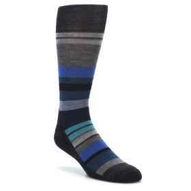 Smartwool Lifestyle Saturnshpere Stripe Men's Socks Charcoal Blue