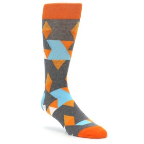 Kaleidoscope Socks for Men in Orange