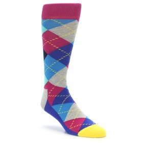 Blue Pink Mint Argyle Happy Socks
