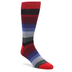 Extra Large Red Blue Grey Stripe Men's XL Dress Socks