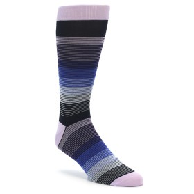 Extra Large Lilac Blue Grey Stripe Men's XL Dress Socks