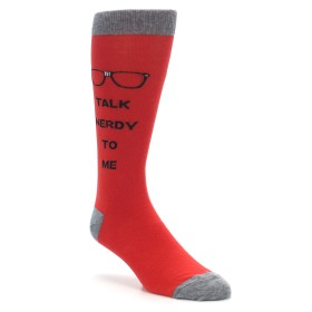 Talk Nerdy to Me Socks for Men by K Bell