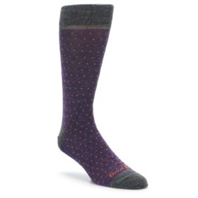 Darn Tough Purple Polka Dot Men's Socks 1651