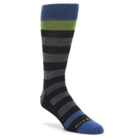 Darn Tough Warlock Stripe Crew Sock Charcoal