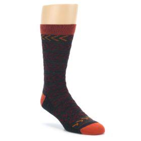 Darn Tough Chevron Socks Charcoal Men's