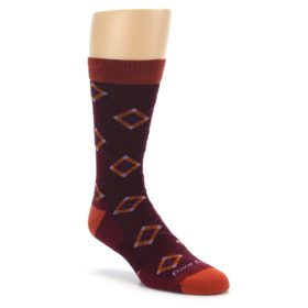Darn Tough Argyle Burgundy Men's Socks Light Cushion