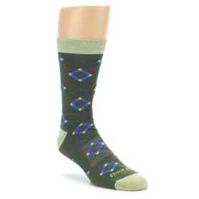 Darn Tough Moss Green Argyle Socks for Men