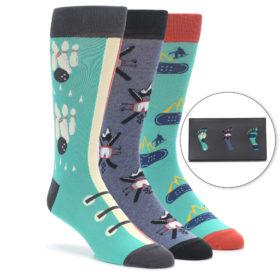 Men's Novelty Winter Hobbies Dress Sock Gift Box