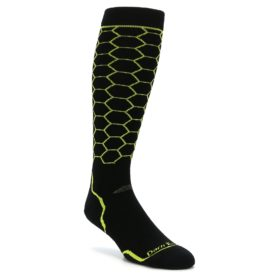Darn Tough Honeycomb Lime Ski Snowboard Socks
