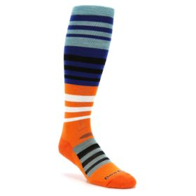 Darn Tough Hojo Orange Men's Ski Snowboard Socks