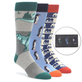 Men's Wild Animal Novelty Dress Sock Gift Box