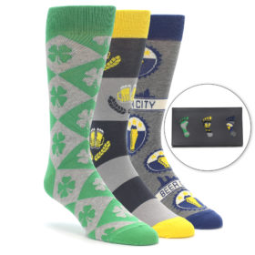 St. Patty's Day Men's Novelty Dress Sock Gift Box