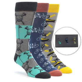 Men's Novelty Summer Hobbies Dress Sock Gift Box