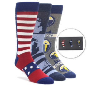 Men's Novelty Grand Rapidian Dress Sock Gift Box