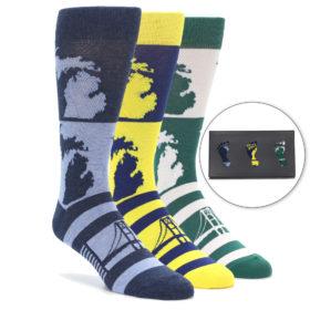 Men's Michigander Novelty Dress Sock Gift Box