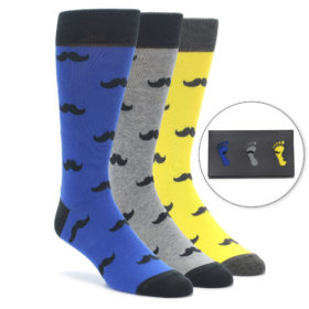 Men's Mustache Novelty Dress Sock Gift Box