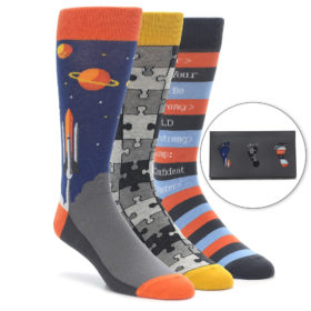 Nerdy Novelty Men's Dress Sock Gift Box