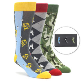 Men's Novelty Outdoorsmen Dress Sock Gift Box