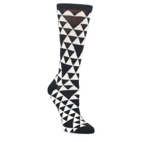 Triangle Pattern Black and White Socks