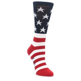 USA Made Women's American Flag Socks