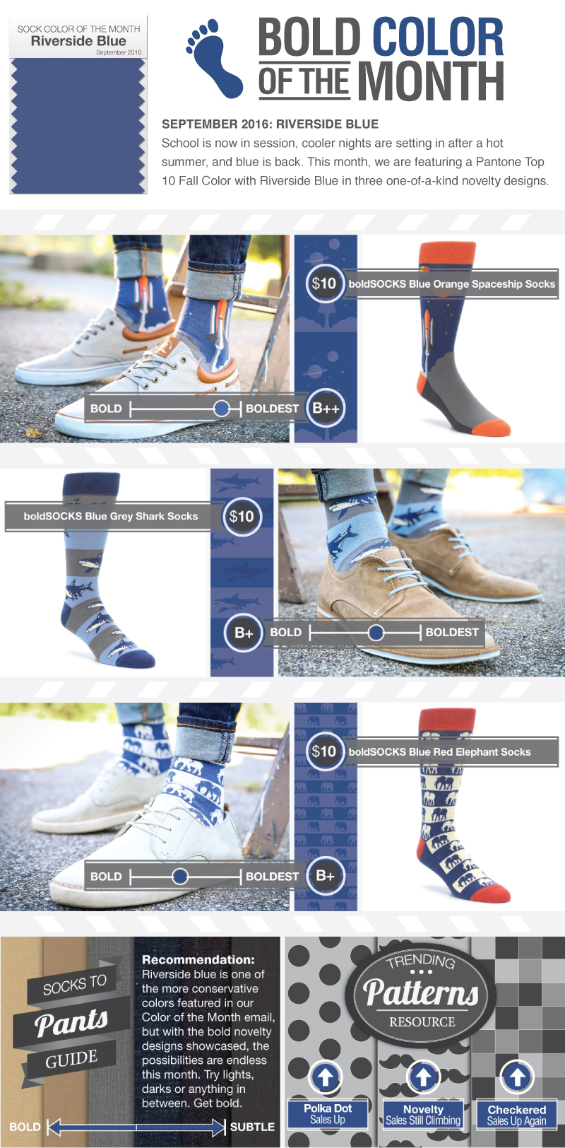 Sock Color of the Month - Riverside Blue