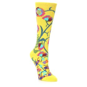 Ozone Socks Yellow African Floral Design
