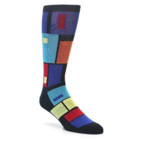 23453-Black-Multi-Blocks-Mens-Dress-Socks-K-Bell-Socks01