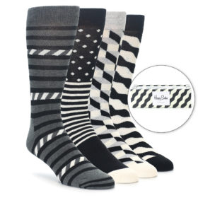 Happy Socks Gift Box Black Wave Stripe