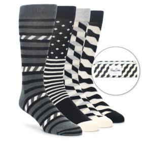 Happy Socks Gift Box Black Wave Stripe