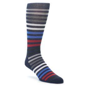 Smartwool Spruce Street Navy Heather Stripe Socks