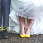 Yellow and Grey Groomsmen Socks