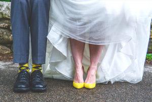 Yellow and Grey Groomsmen Wedding Socks