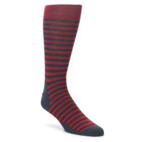 Smartwool Stria Stripe Crimson Red Socks