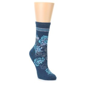 Smartwool Women's Bloom Botanical Deep Sea Heather Socks