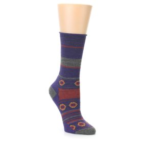 Smartwool Women's Dazed Dandelion Purple Taupe Socks