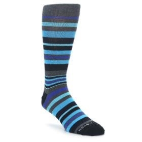 Men's Blue Grey Stripe Socks