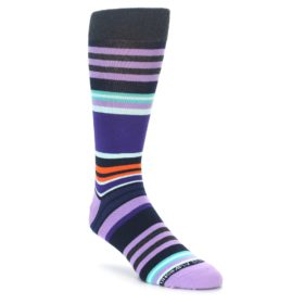 Purple Stripe Socks for Men