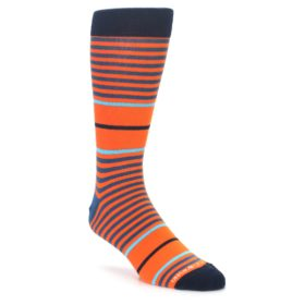 Orange Blue Stripe Socks for Men