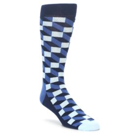 Happy Socks Navy Blue Optical Socks