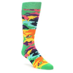 Happy Socks Green Camo Socks for Men