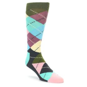 Happy Socks Pastel Argyle Socks for Men