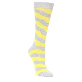 Women's Happy Socks Yellow Wave Stripe Socks